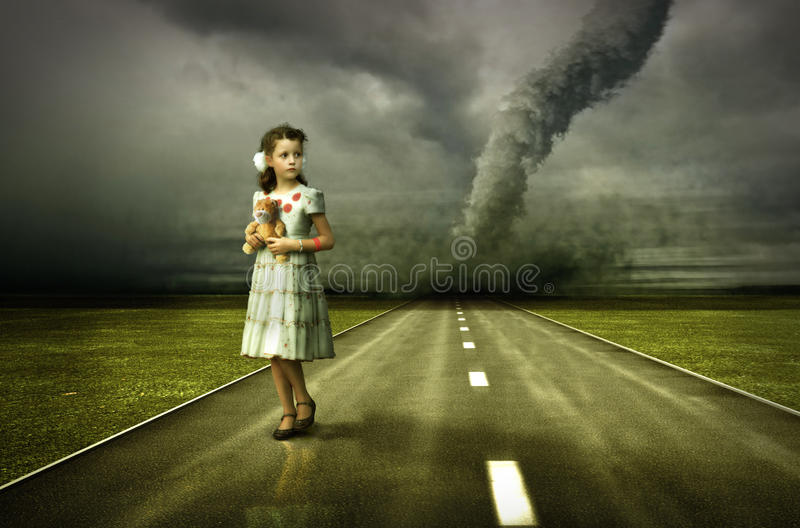 Girl Vector Wallpaper Girl Tornado Stock Illustration Illustration Of Clouds