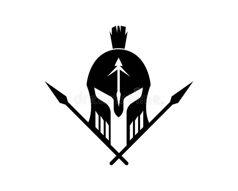 Gladiator Logos And Symbols Icons Stock Illustration