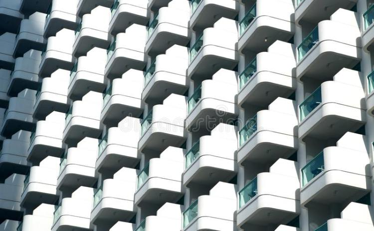 Glass Balconies On Modern Building Facade Architecture Background Stock Image Image Of Balcony Design 110862167