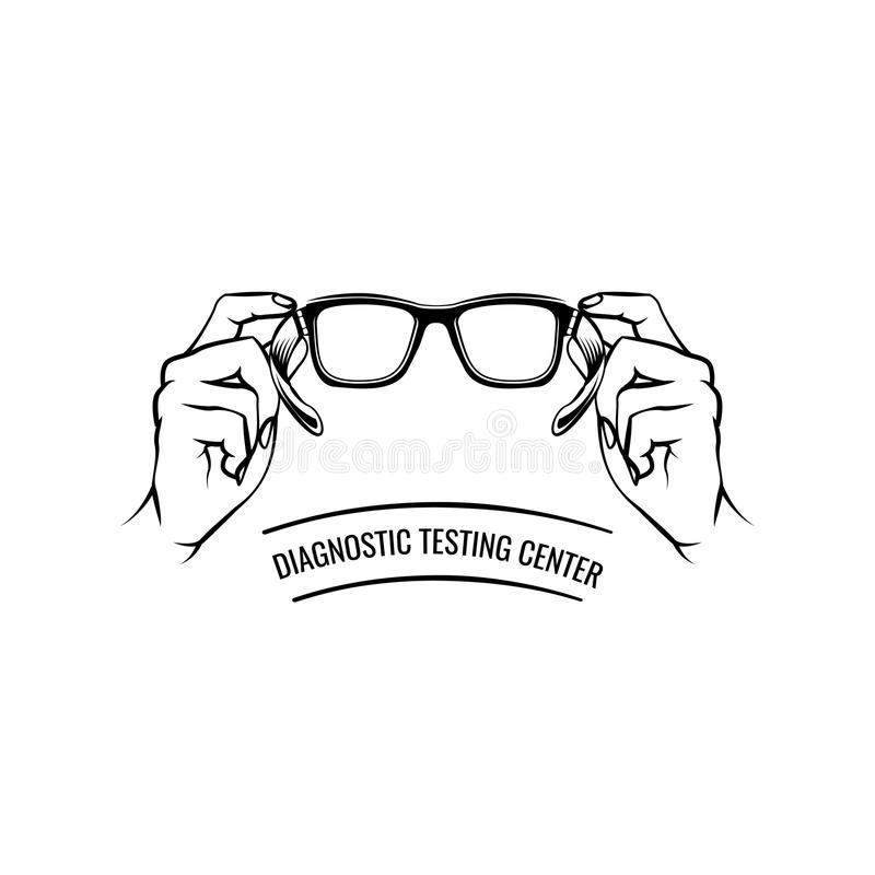Eyeglasses Icon. Glasses. Oculist Inscription. Vector