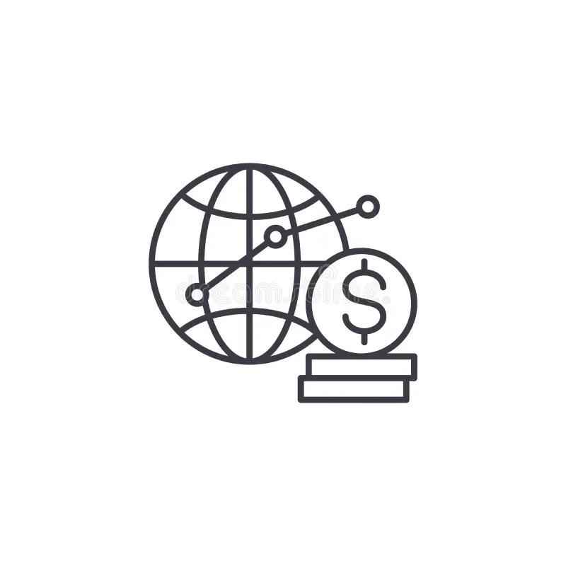 Global Analysis Sign Illustration Design Stock