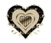 gold and black swirls heart stock