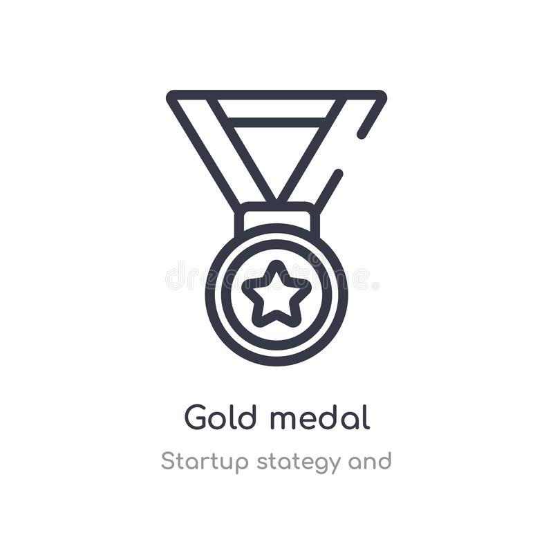 First Place Winner's Gold Medal Stock Vector