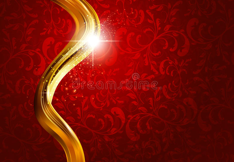 Gold And Red Abstract Background Royalty Free Stock Photo
