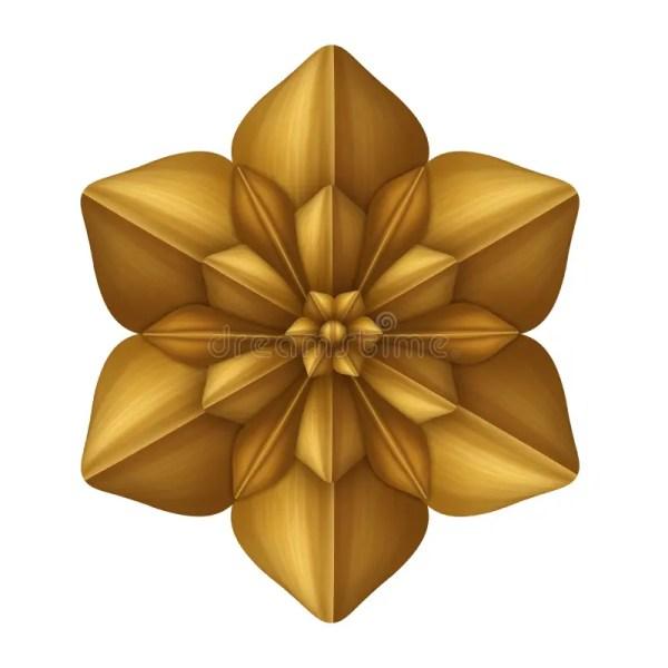 golden decorative flower clip art
