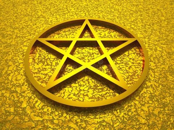 golden star of david stock illustration