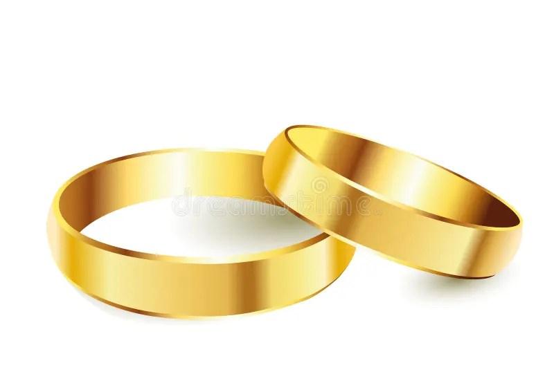 Goldene Ringe vektor abbildung Illustration von frau