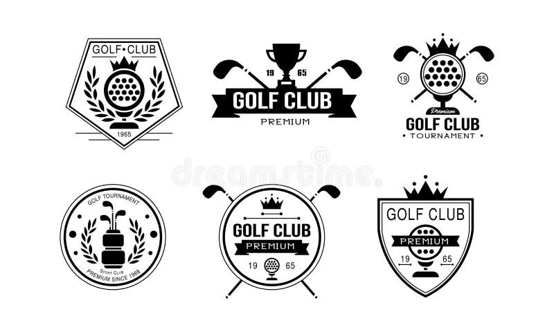 Golf Tournament Logo Best Est 1978, Elegant Vintage Sport