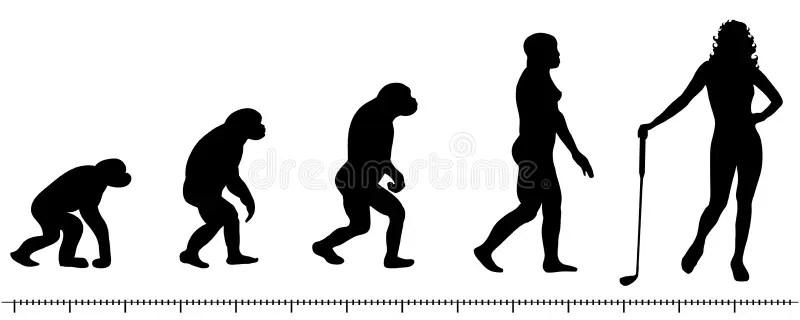 Golf di evoluzione illustrazione di stock. Illustrazione