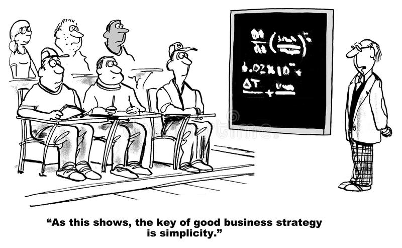 Good Business Strategy Is Simple Stock Illustration