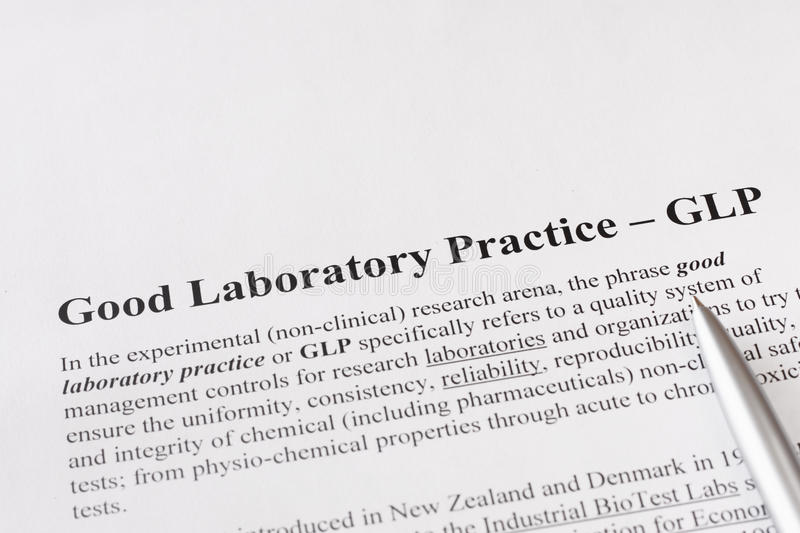 Good Laboratory Practice Or GLP Refers To A Quality System