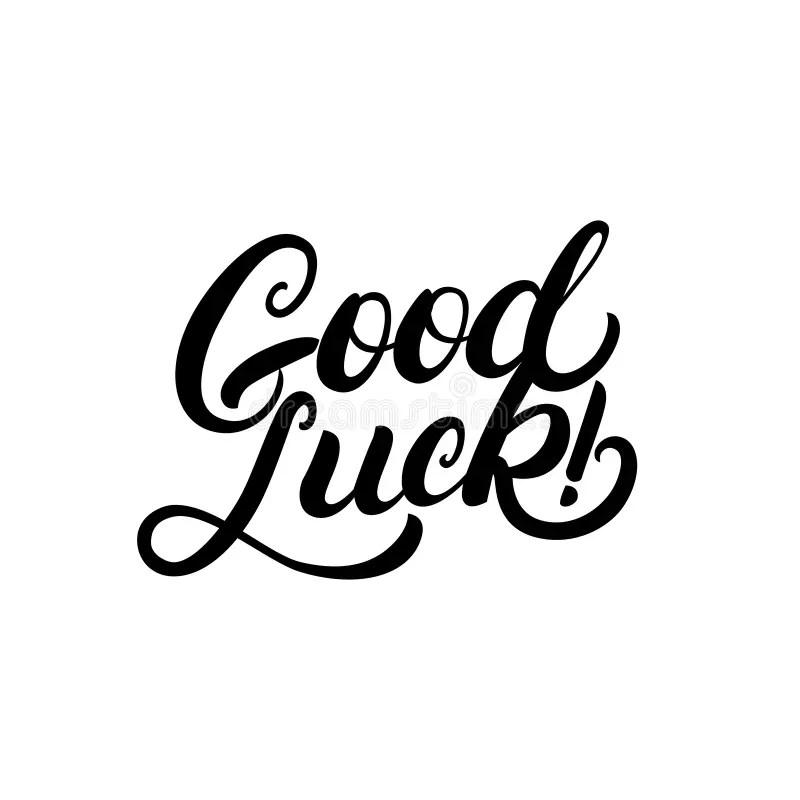 Good Luck Hand Written Lettering For Congratulation