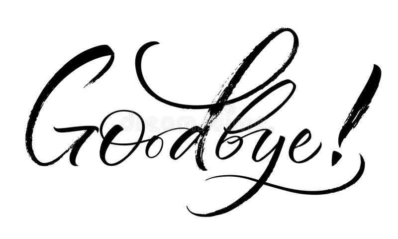 Goodbye Text Stock Illustrations
