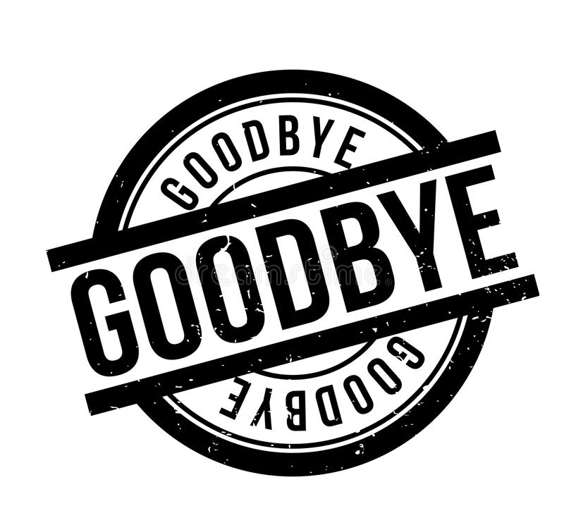 Goodbye rubber stamp stock vector. Illustration of cheerio