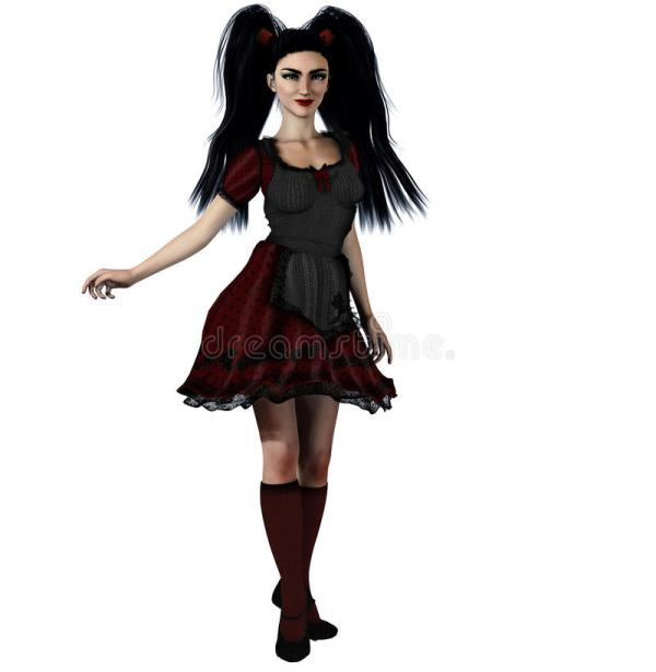 Gothic Alice Stock Illustration. Illustration Of Woman
