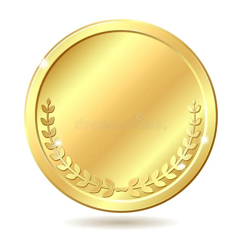 Gouden muntstuk vector illustratie Illustratie bestaande