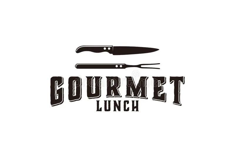 Gourmet logo stock vector. Illustration of serving, steak