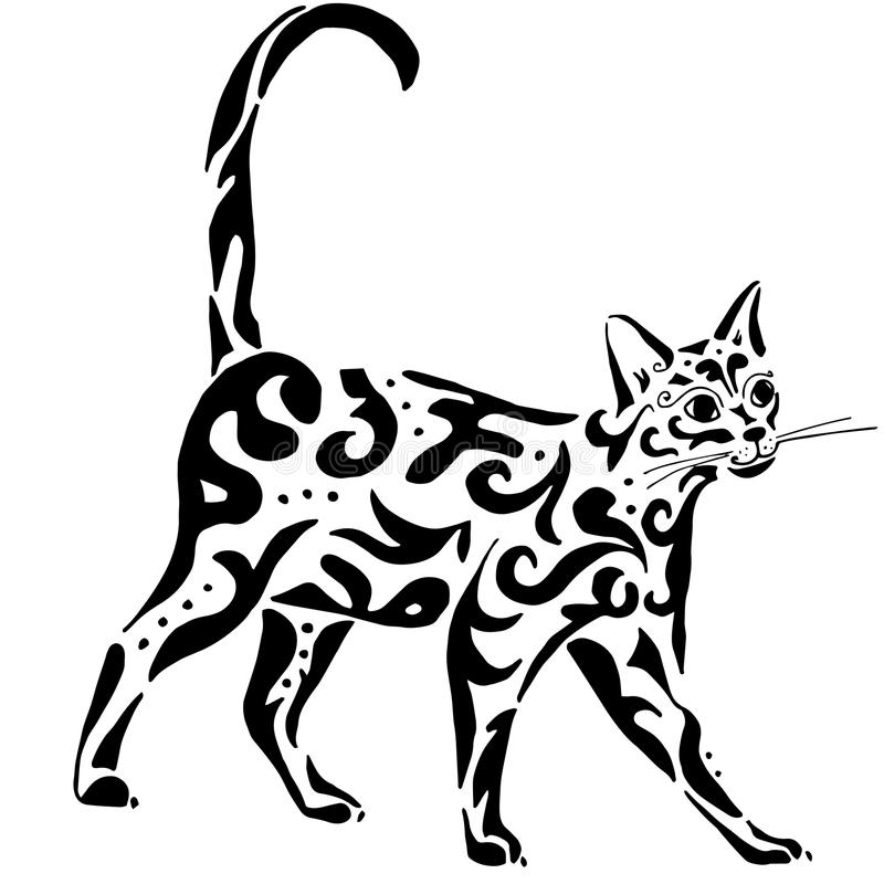 Egyptian Cat stock vector. Illustration of traditional