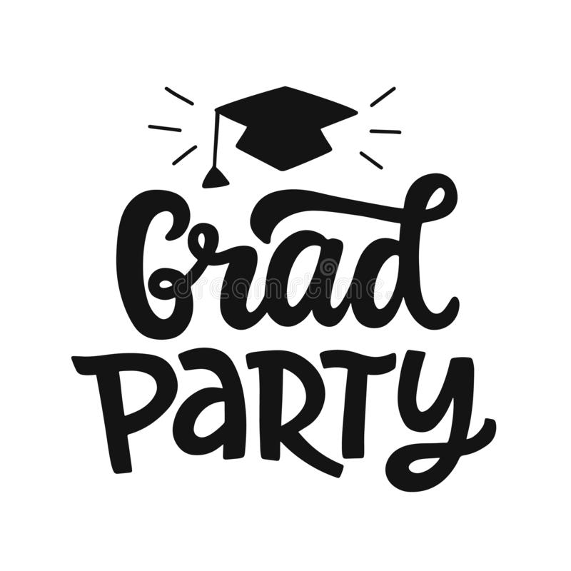 Graduation banner poster stock vector. Illustration of