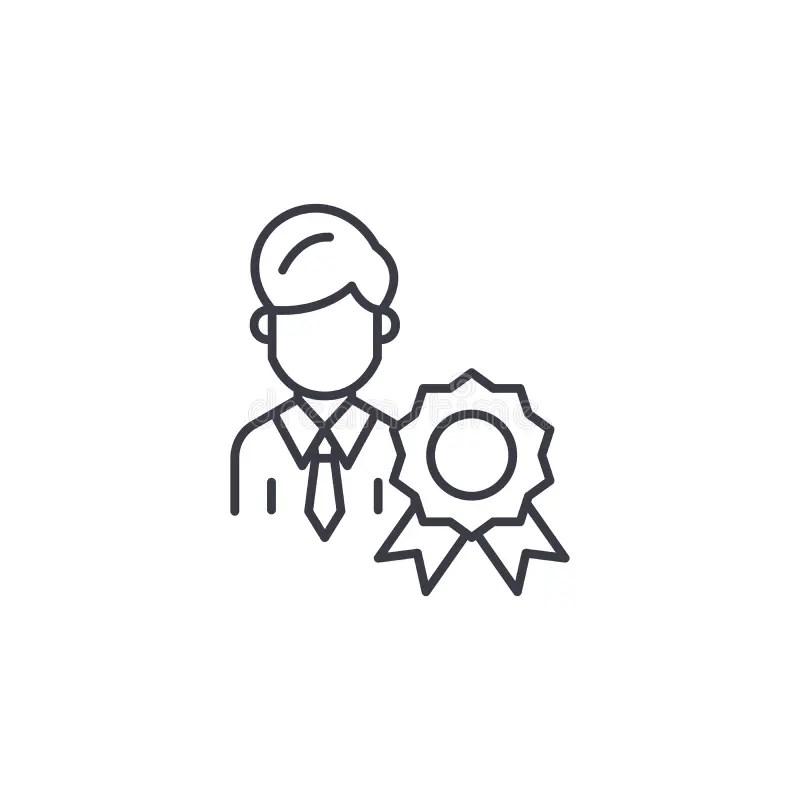 Certificate Linear Icon Concept. Certificate Line Vector