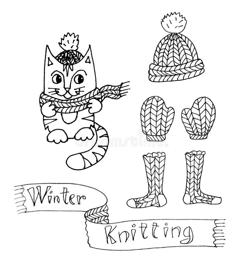 Mittens Socks Hat Stock Illustrations