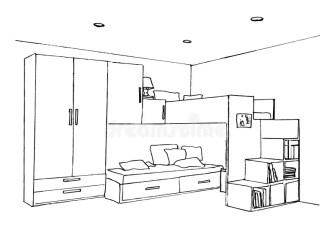 Kids Bedroom Sketch Stock Illustrations 219 Kids Bedroom Sketch Stock Illustrations Vectors & Clipart Dreamstime