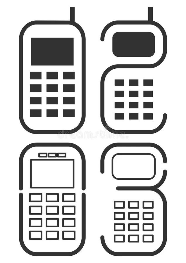Graphismes De Téléphone Portable Illustration de Vecteur