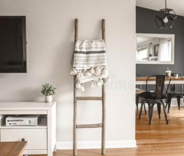 Gray Wooden Ladder On White Painted Wall Free Public Domain Cc Image