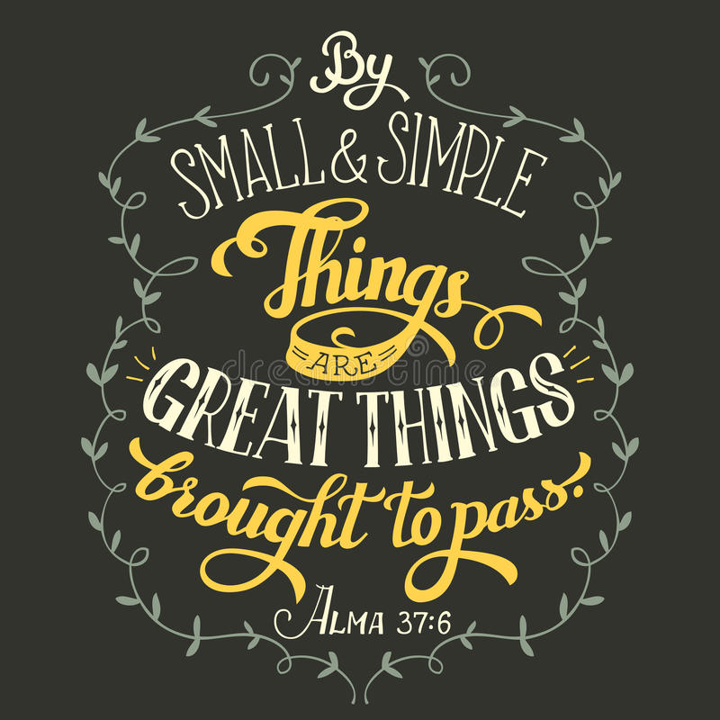 Download Great Things Brought To Pass Bible Quote Stock Vector ...
