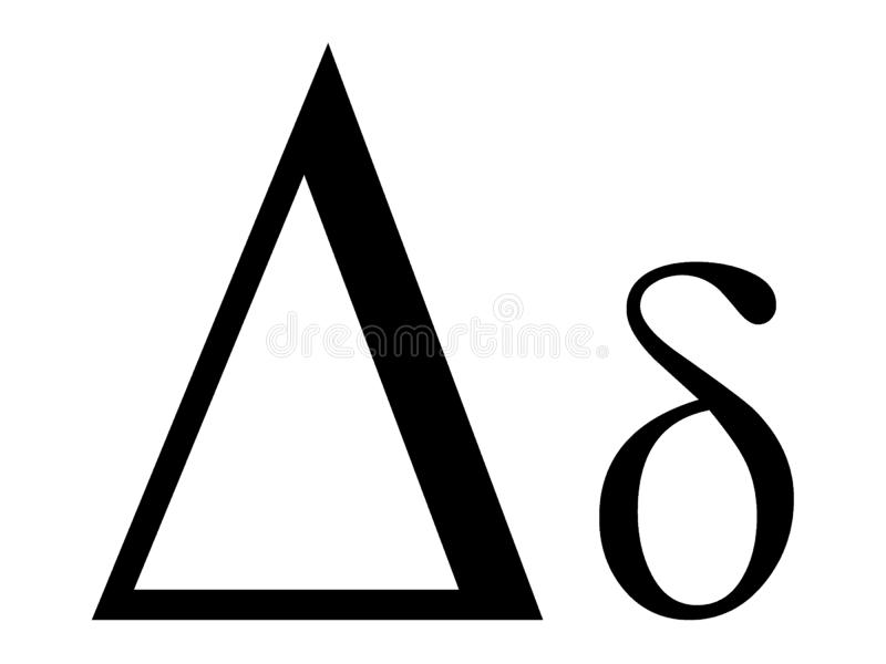 Greek alphabet letter Tau stock vector. Illustration of