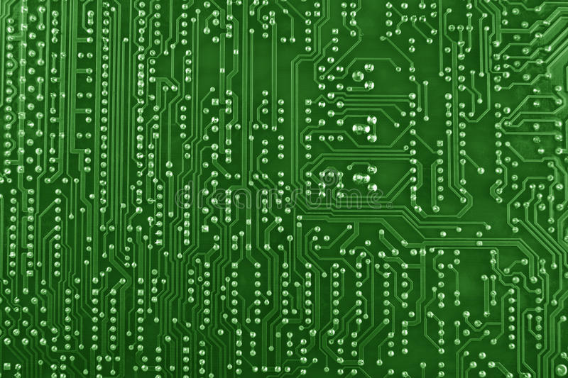 Green Circuit Board Background Stock Images