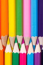 pencils vertical close row education drawing painting selective focus