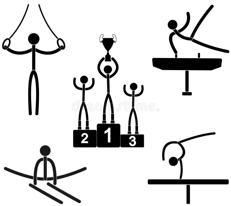 Gymnastics stock vector. Illustration of ribbon, healthy