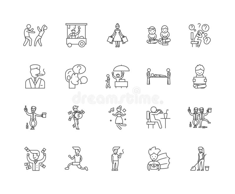 Healthy Lifestyle And Bad Habits. Vector Stock Vector