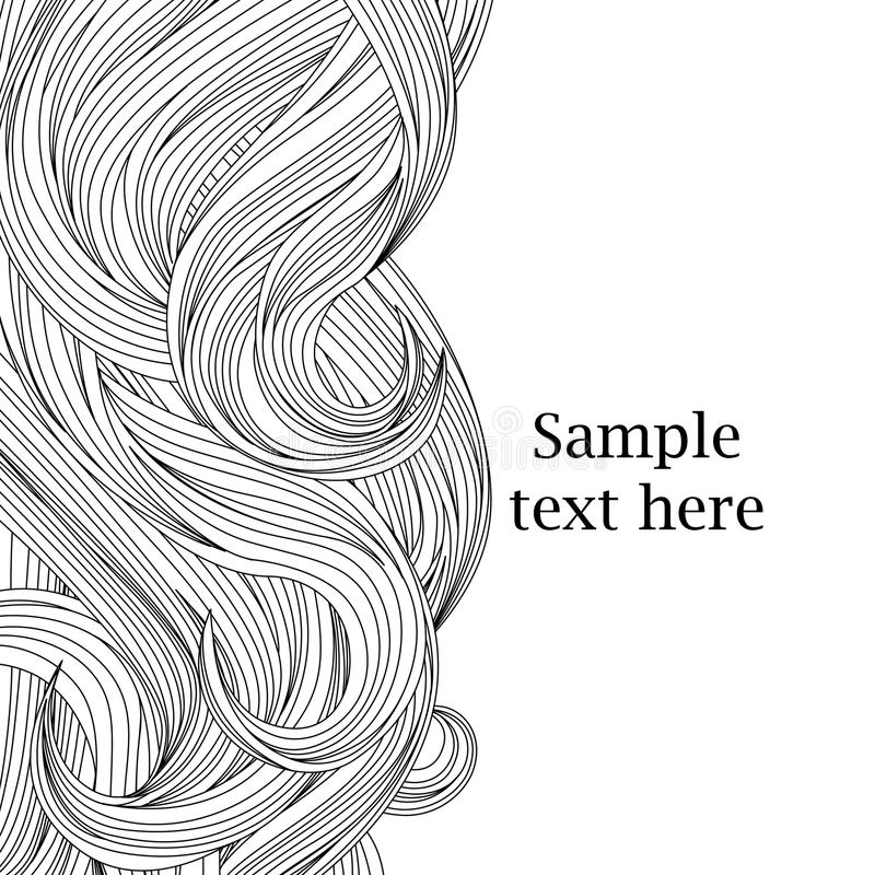 Hair background stock illustration Illustration of