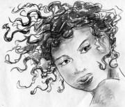 hair in wind stock illustration