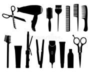 hairdresser stock vector. illustration