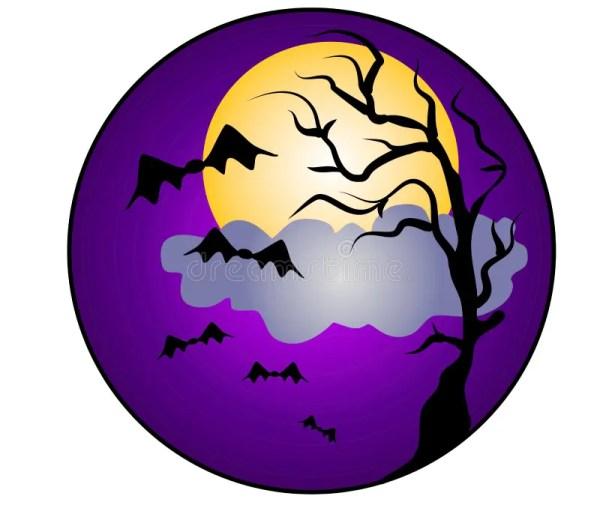 halloween night bats clip art stock