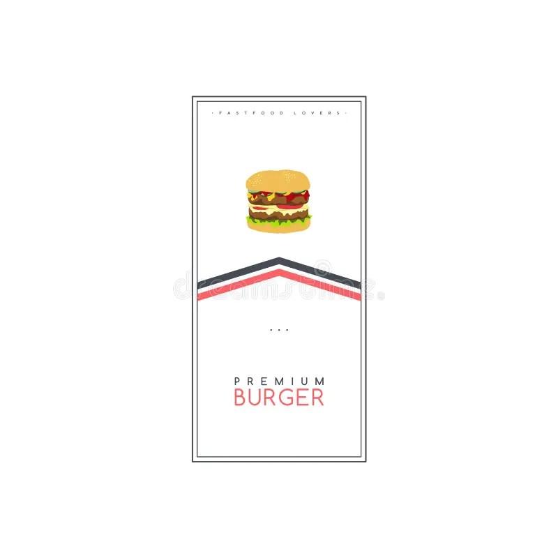 Burger Flyer Template stock vector. Illustration of