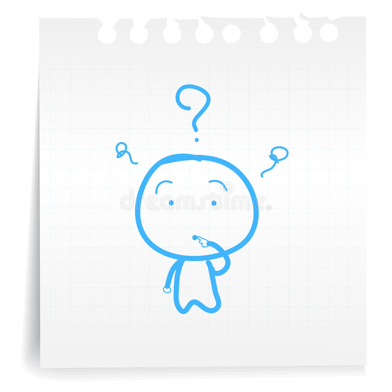 Dont Know Cartoon_on Paper Note Royalty Free Stock Photos