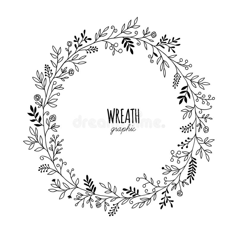 Hand Drawn Wreaths Stock Vector Image Of Drawing
