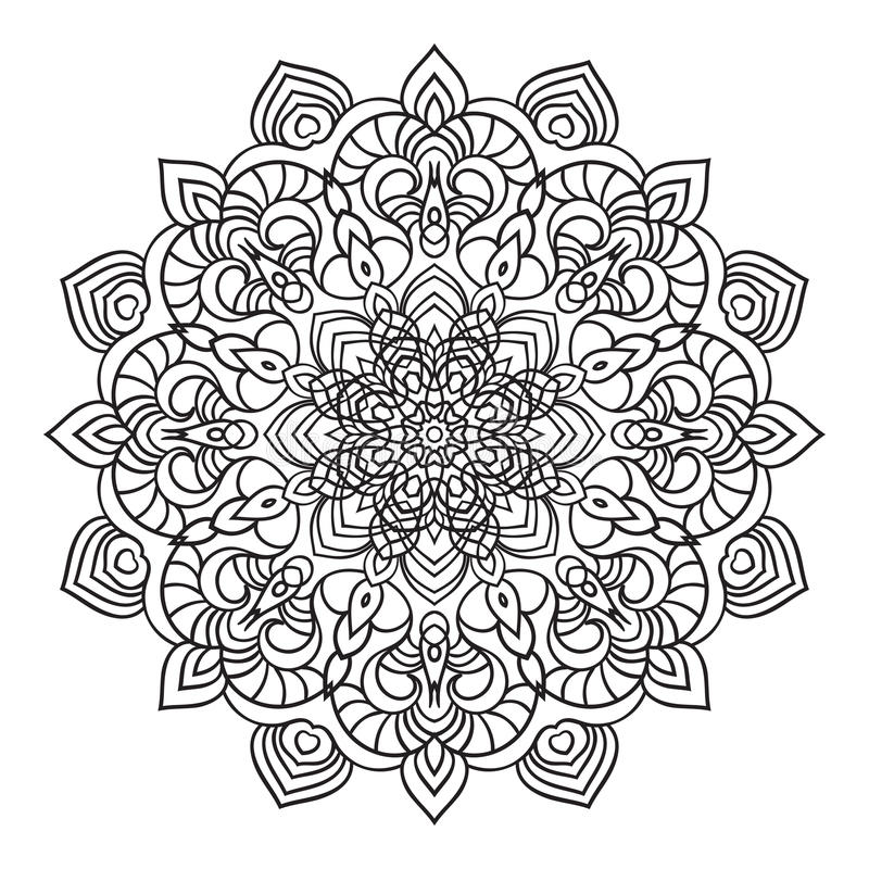 Eastern Black And White Mandala Stock Vector