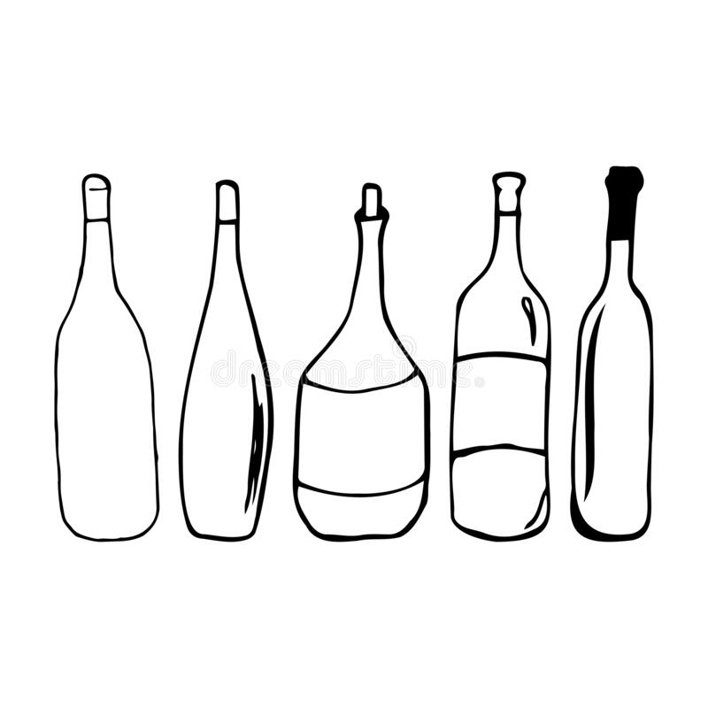 Bottle Prints Stock Illustrations