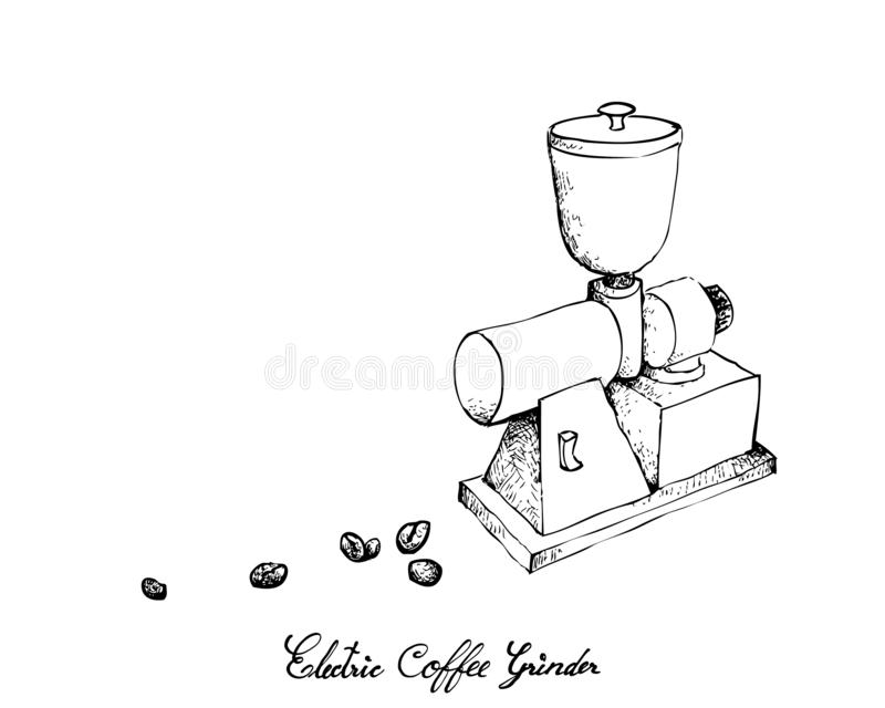 Grinding Machine On A White Background. Sketch Stock
