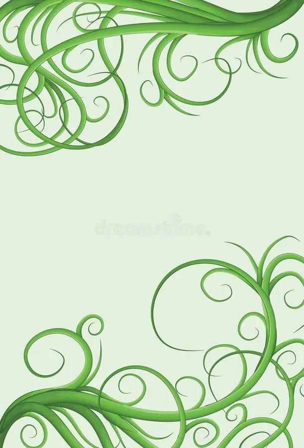 Hand Print Clip Border Art Green