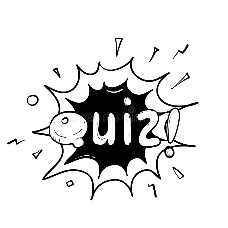 Quiz Red 3D Word Test Exam Assessment Stock Illustration
