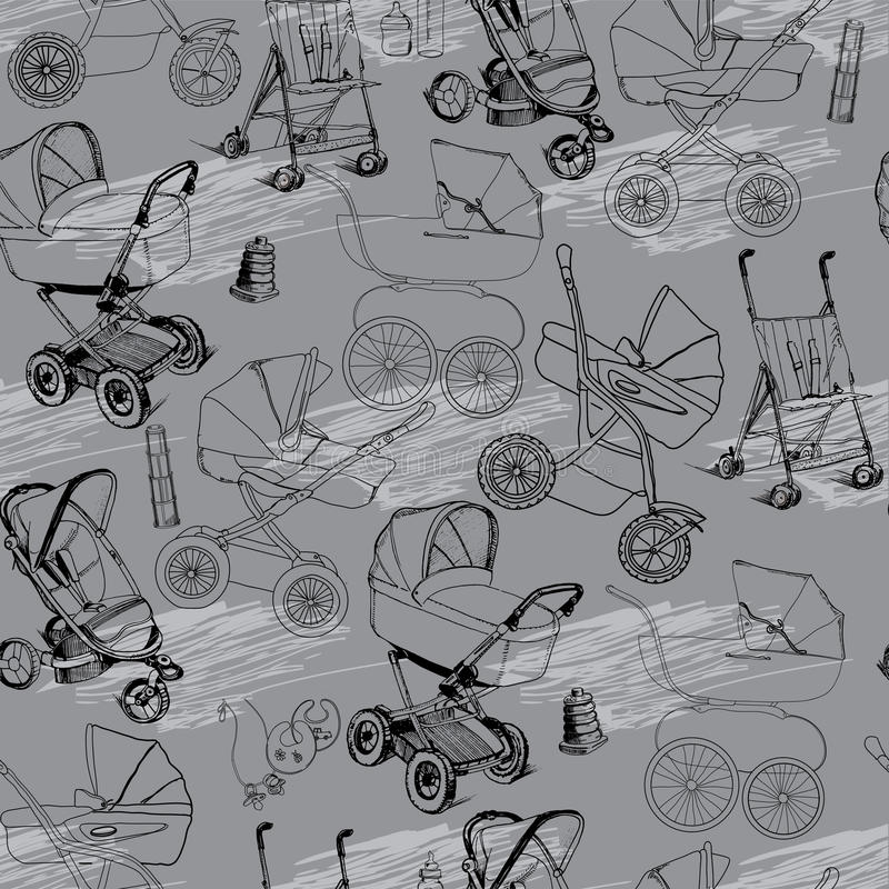 Strollers Stock Illustrations