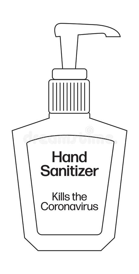 Hand Sanitizer stock vector. Illustration of drawing