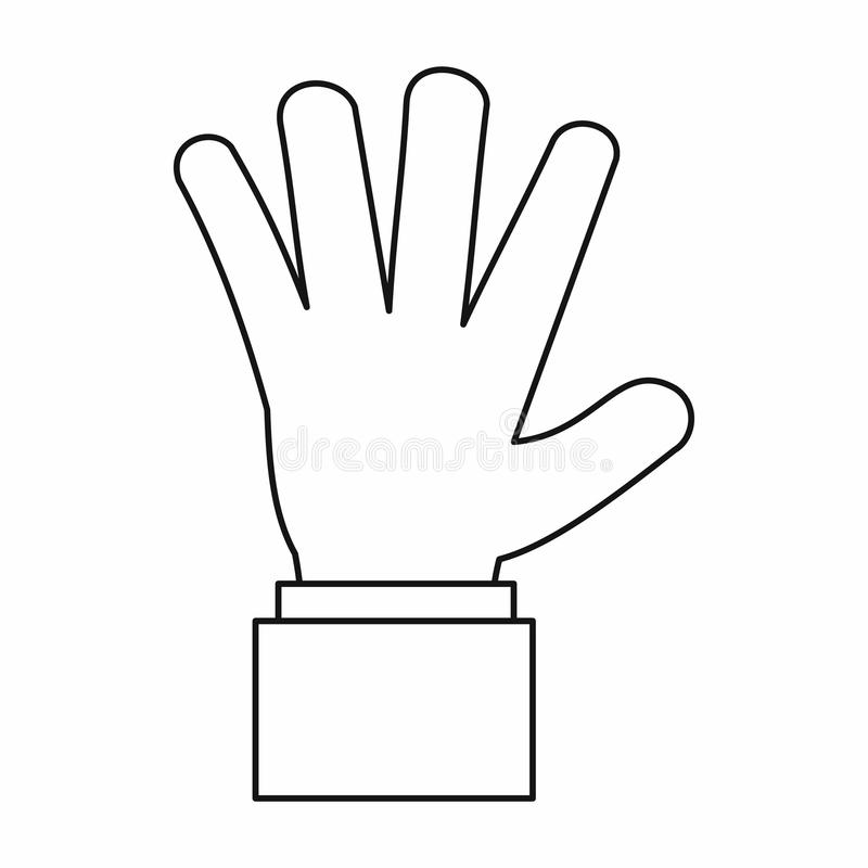 Hand Showing Stop Signboard Icon Green Stock Vector