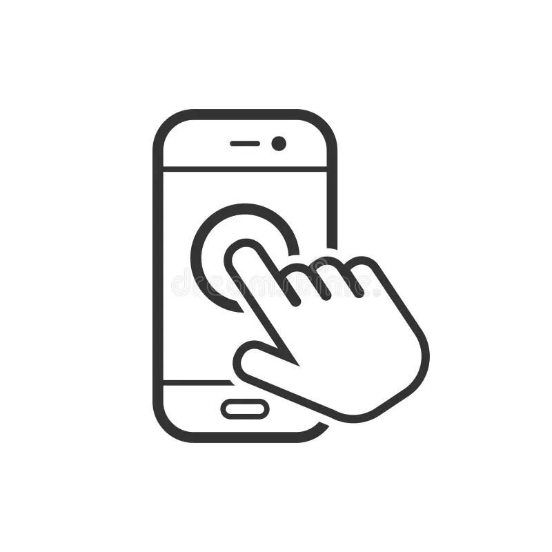 Touchscreen Smartphone Concept. Stock Vector